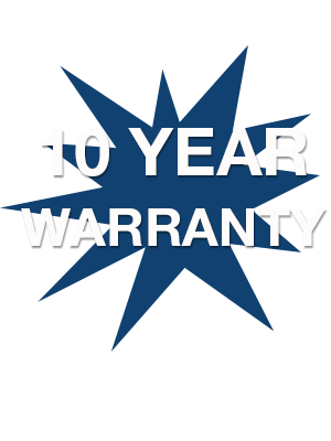 10 Year Warranty on new roof